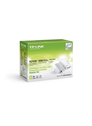 TP-LINK TL-WPA4220KIT AV500 300 Mbps Kablosuz Tak Kullan 2 LAN 300 Metre Powerline Adaptör Renkli